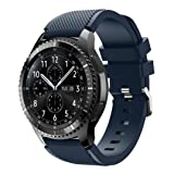 GBSELL New Fashion Sports Silicone Bracelet Strap Band For Samsung Gear S3 Frontier (Dark Blue)