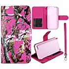 RGHT Camo Flip Wallet Apple Iphone 5, 5S Leather Pouch With ID Slot at&t. Verizon, Sprint, C Spire Case Cover Hard Phone Case Snap-on Cover Protector Rubberized Touch Faceplates