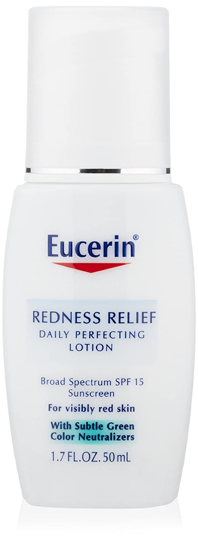 Aceites Para La Piel Eucerin, Alivio de enrojecimiento de EUCERIN perfeccionar diariamente loción, amplio espectro SPF 15, 1,7 onzas en Veo y Compro