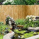 Brise-vue clôture casa pura® Guardian en roseau | 100% naturel - 3 tailles | résistant aux intempéries | branches fixées avec un fil der fer | 150x500cm