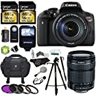 Canon EOS Rebel T6i 24.2 MP Digital SLR Camera with 18-135mm f/3.5-5.6 STM Lens + Lexar 32 GB Storage + Polaroid Tripod & Monopod + Polaroid Pro Slave Flash + Polaroid Deluxe Accessory Bundle