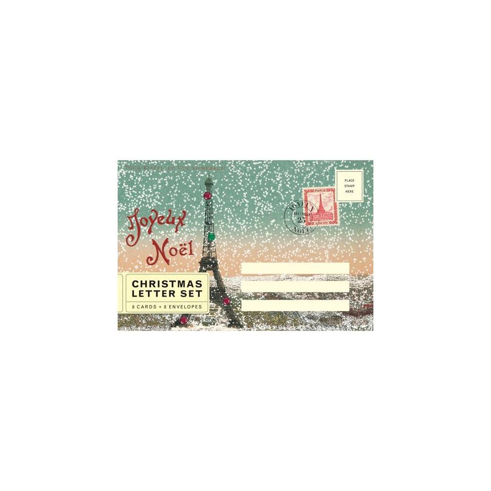Joyeux Noel Twilight.Cavallini Joyeux Noel Paris Eiffel Tower Christmas Letter