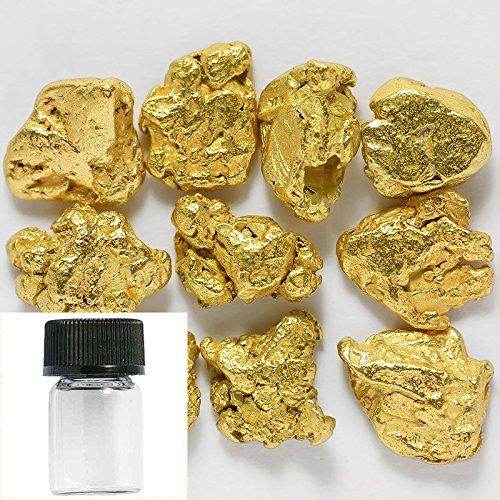 10-pieces-alaska-natural-gold-nuggets-or-flake-specimen-with-glass-bottle