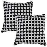 Home Kouture Polyester Set Of 2 Jacquards Diamonds Cushion Cover; 40.64 X 40.64 CM
