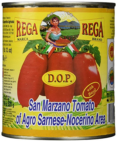San Marzano DOP Authentic Whole Peeled Plum Tomatoes - 28 oz cans (Pack of 6) (Office Tomatos compare prices)