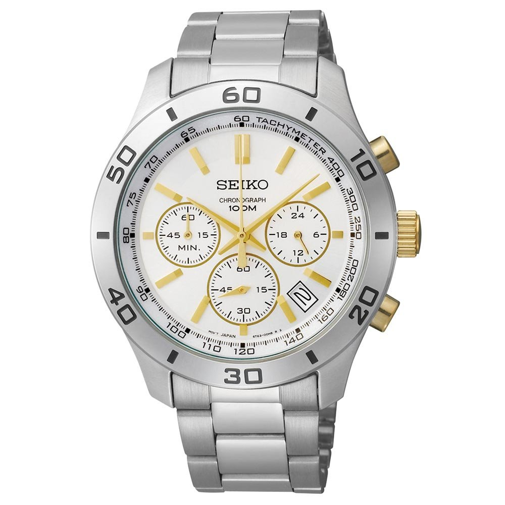 Seiko 3-Hand Chronograph with Date Men's watch #SSB075