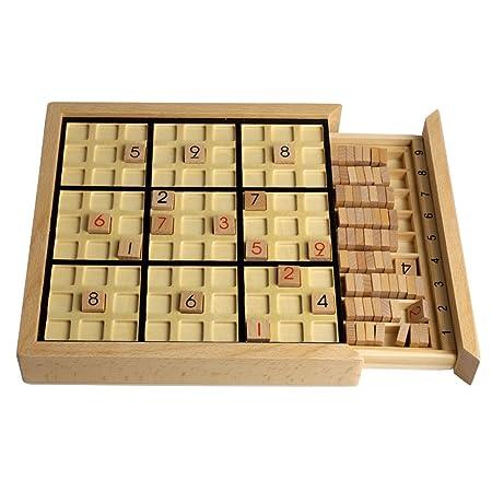 Andux Zone Bois Sudoku Jeux de société Avec tiroir SD-02 (Noir)