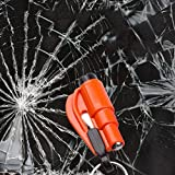 Vanker Mini Car Window Breaker Belt Cutter Emergency Safety Hammer Survival Tool Kit with Key Chain Random Color