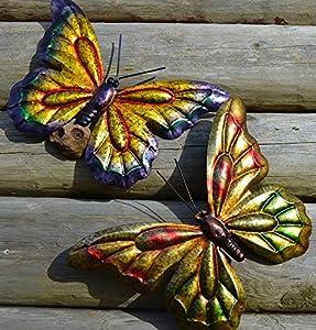 Butterfly Garden Wall Art - Stunning Garden Butterfly Ornament -PAIR