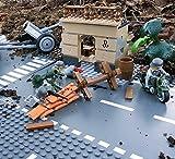 Modbrix 5510 - ✠ Granatwerfer Stellung mit Mörser,Feld-Motorrad, Häuser Diorama und inkl. custom Wehrmacht Soldaten aus original Lego© Teilen ✠ thumbnail