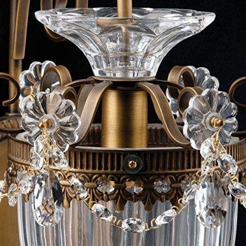 Applique style classique, armature en métal couleur laiton, plafonnier en verre, ampoules non incl. E14 1x60W 230V