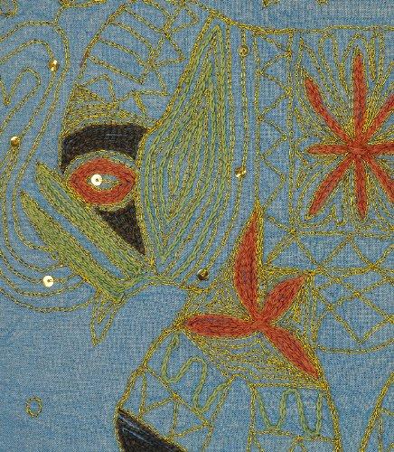 Imagen 3 de Cojín Elefante hecho a mano cubre con Zari y bordado Tamaño trabajar 16 x 16 pulgadas Juego de 2 piezas