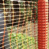 *FREE DELIVERY* Orange 4kg Plastic Mesh Barrier Fence Netting - 50m Roll
