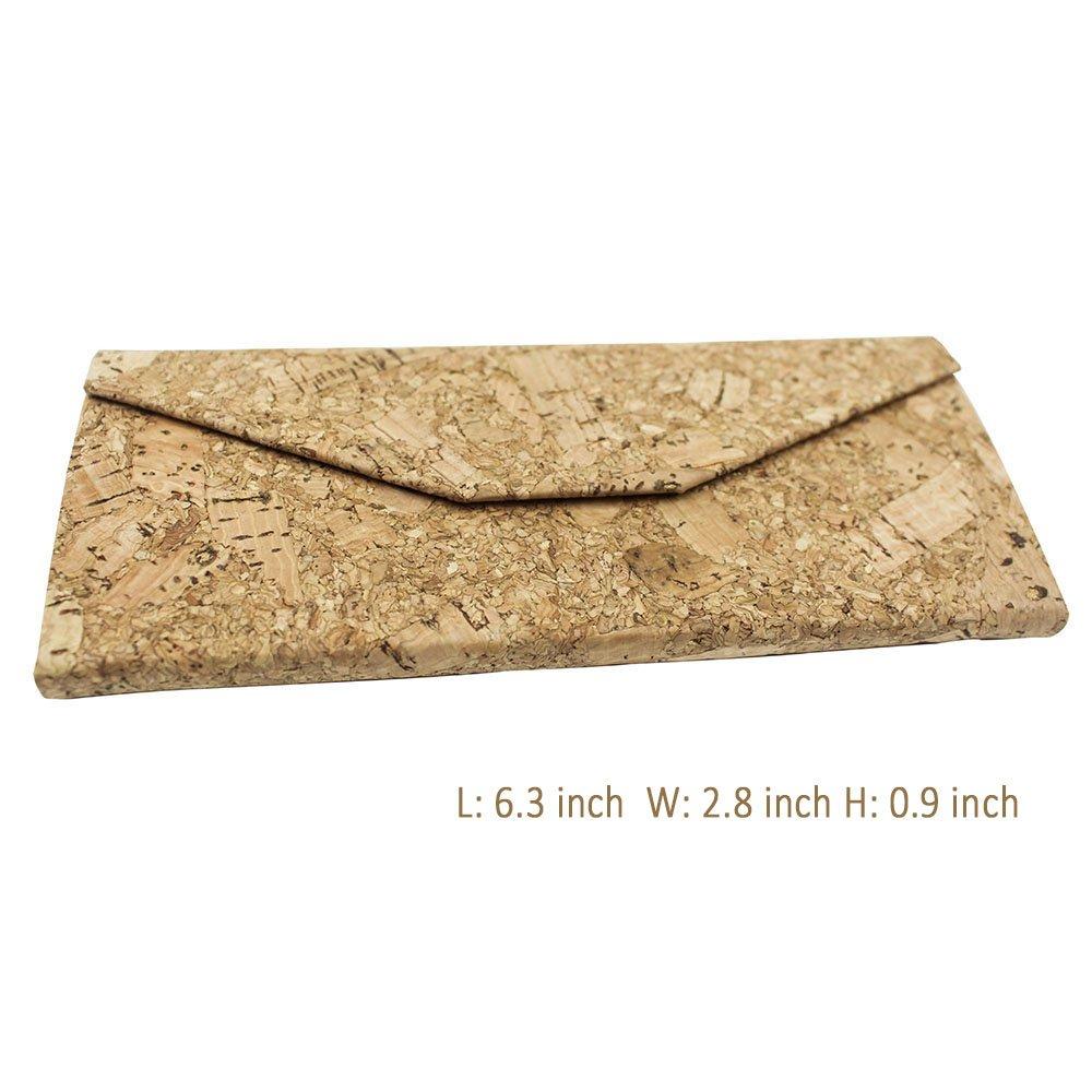 Eyeglasses Case, ASAPS Vintage Foldable Eyeglasses Case (Wood Sawdust) 5