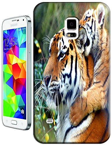 Lovely Power Tigers Cases Covers Phone Hard Back Cases Beautiful Nice Cute Animal Hot Selling Cell Phone Cases For Samsung Galaxy S5 I9600 # 23
