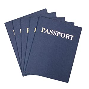Hygloss Products Blank Passport Book - Fun Pretend Activity for Kids - Great for Classrooms & Parties - Imaginary Travel - Little Travelers Pocket Journal - 24 Blank Pages - 4 ¼ X 5 ½ - Pack of 100 Books