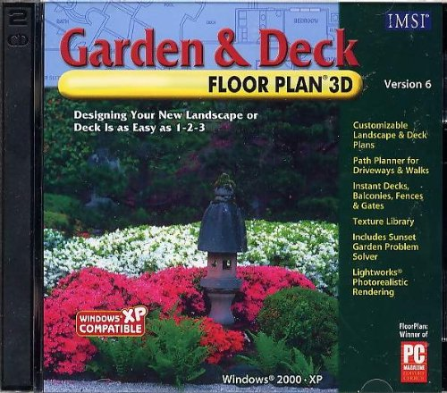 Garden and Deck Floor Plan 3D Version 6 (2 CD Set)