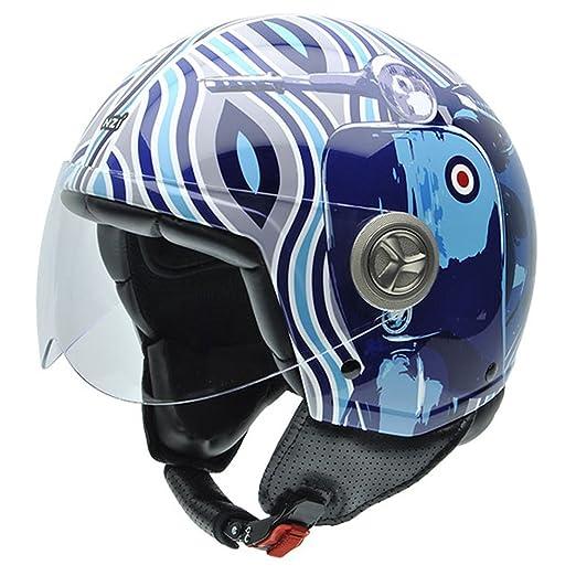 NZI 050267G770 Zeta Graphics Mod Blue, Casque de Moto, Taille XS Multicolore