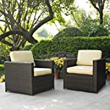 Outdoor Wicker Arm Chair - Set of 2