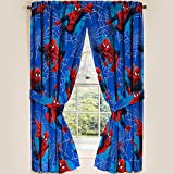 "Marvel Ultimate Spiderman Spider-Man Panels Drapes Curtains, Set of 2, 42"" x 63"" each"