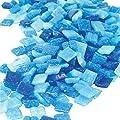 Jennifer's Mosaics Denim Mix 3/8-Inch Venetian Style Glass Mosaic Tile, Assorted Colors, 8-Ounce by Diamond Tech International