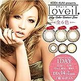 loveil ラヴェール 30枚入 【カラー】 ブラウンミラージュ 【PWR】-3.00 【DIA】14.2 1day