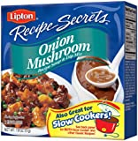 Lipton Recipe Secrets Recipe Soup & Dip Mix, Onion Mushroom 1.8 oz, (Pack of 6)