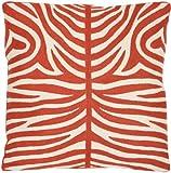 Safavieh Pillow Collection Throw Pillows, 22 by 22-Inch, Sierra Orange Sunburst, Set of 2