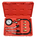 Petrol Engine Pressure Gauge Tester Kit Set Compression Leakage Diagnostic Compressometer Tool for CAR Auto with Case (Color: As the picture, Tamaño: One Size)