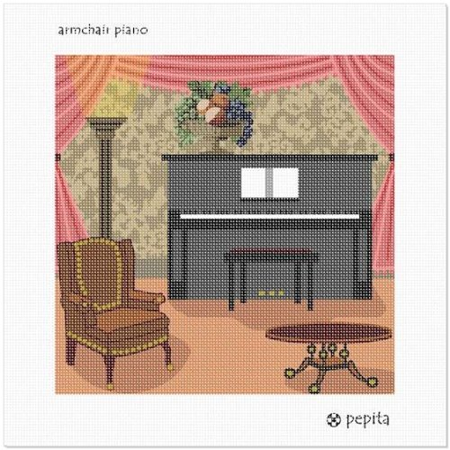 Armchair and Piano Needlepoint Canvas