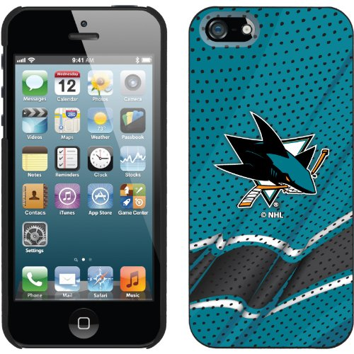 Special Sale San Jose Sharks« - Home Jersey design on a Black iPhone 5s / 5 Thinshield Snap-On Case by Coveroo