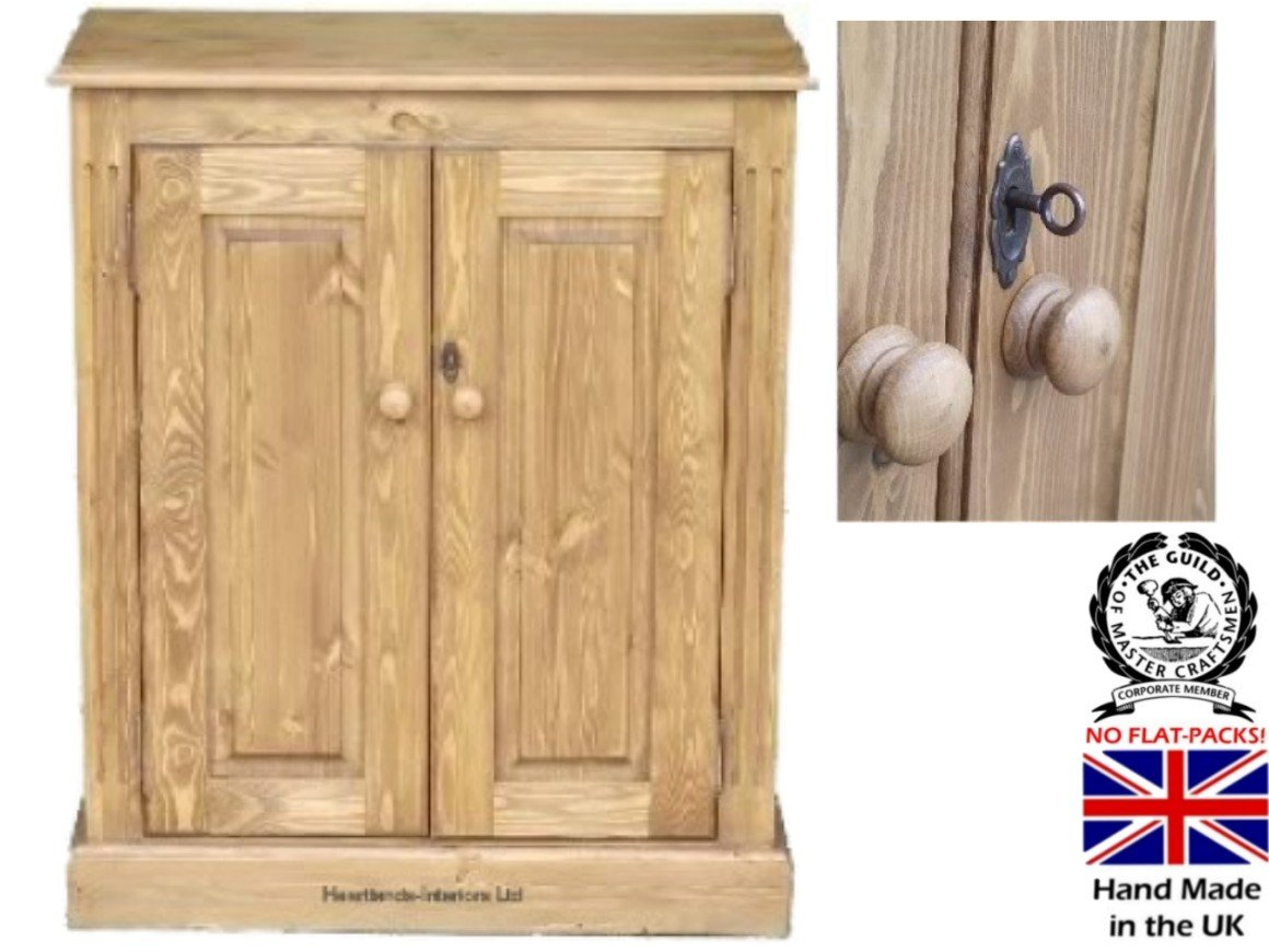 Heartland Solid Pine Cupboard 3ft x 30  Handcrafted & Waxed Adjustable Locking Storage Cabinet. Choice of Colours. No flat packs, No assembly (COP01)       Customer reviews and more news