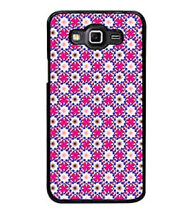 Fuson Premium 2D Back Case Cover Floral Pattern With Blue Background Degined For Samsung Galaxy Grand Max G720