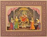 Exotic India Durga Pooja - Stone Color on Paper - Artist: Navneet Parikh