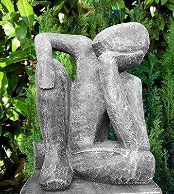 Statue Cast Stone Dreamer, Slate grey OGD207
