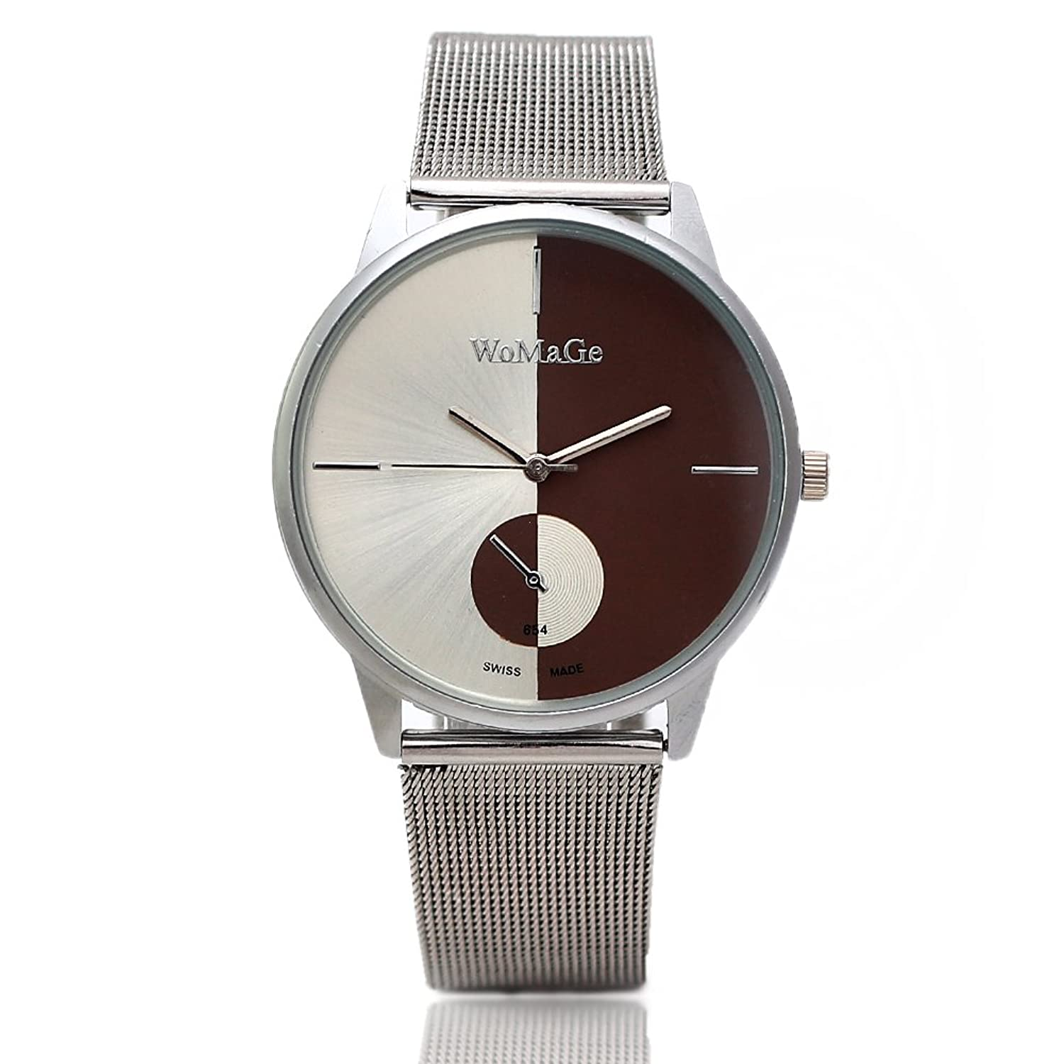 2013newestseller Casual Classic Mens Stainless Steel Mesh Quartz Wrist Watch