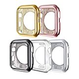 ISENXI Compatible with Apple Watch Case 38mm,5 Pack Soft TPU Ultra-Slim Lightweight Bumper Scratch Resistant Protective Case Cover Compatible with Apple Watch Series 3 2 1 (5Pack) (Color: 5Pack, Tamaño: 38 mm)