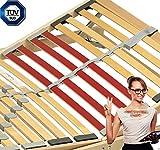 130 KG Belastbarer 7 Zonen Lattenrost 140×200 33 Leiste Kopf und Fuß verstellbar Verstellbar besteht aus