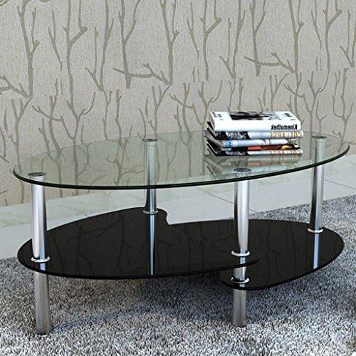 Tavolino design esclusivo 3 ripiani nero