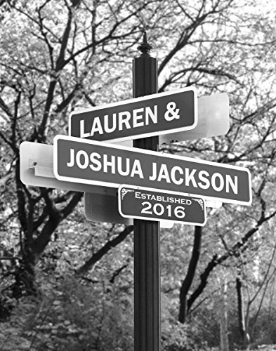Lovers Lane - Personalized Print Includes Names and the Special Date - Perfect Wedding Gift for the Bride and Groom