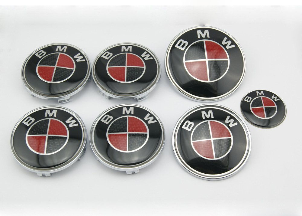 HAMMER BMW Black/Red Carbon Fiber Emblem Logo Badge Set 7-pc Set Special Offer【Free Ship From NY, USA】 поводок удавка для собак collar glamour круглый красный 8мм 135см