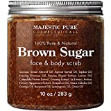 Exfoliating Brown Sugar Body Scrub - Natural Body & Face Scrub - Reduces The Appearances of Cellulite, Stretch Marks, Acne, and Varicose Veins, 10 oz (Tamaño: 10 Oz)