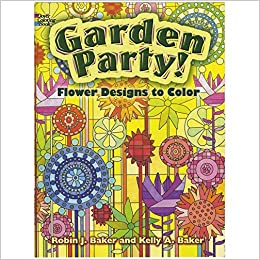 garden party flower designs to color dover nature