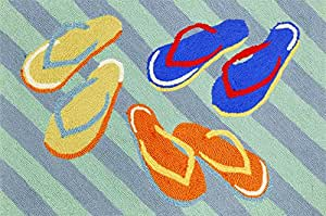 "Amazon Area Rugs ""Colorful Flip Flops"" Rug 30"" X"