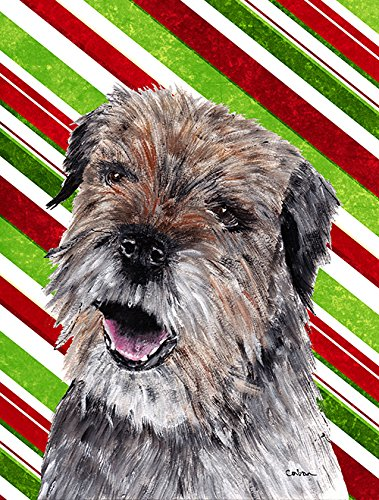 Border Terrier Candy Cane Christmas Flag Garden Size From Caroline'S Treasures front-95124