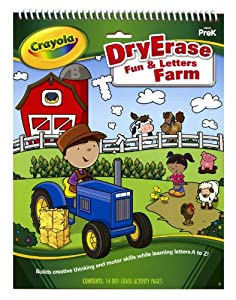 Crayola Dry Erase Activity Tablet Fun And Letters Farm