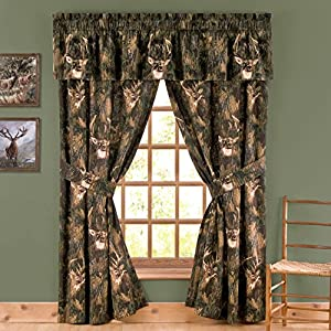 Camo Deer Cotton Curtain Valance