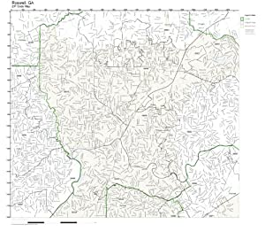 Amazon Com Zip Code Wall Map Of Roswell Ga Zip Code Map