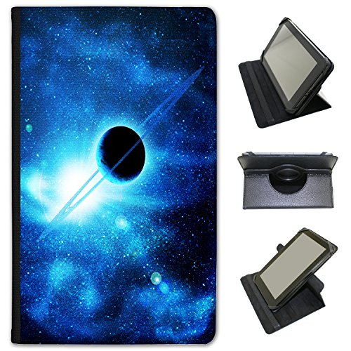 planet-with-rings-saturn-in-blue-space-universal-faux-leather-case-cover-folio-for-the-kobo-aura-h20