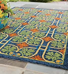 "Amazon Talavera Tile Indoor Outdoor Rug 2 6"" x 4"